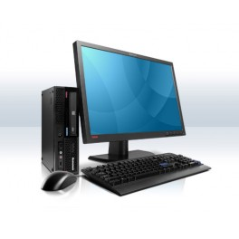 "Système  complet : Lenovo Thinkcentre M58 Core 2 duo 3.0GHz - 4 Go DDR3 - 160Go - Graveur DVD - Windows 7 Pro Écran 19"" LCD"