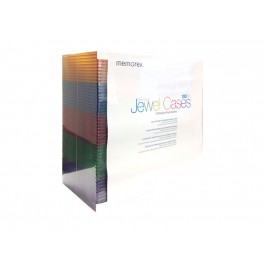 Memorex 100PK Slim CD/DVD Assorted Color Jewel Cases - 32020018522
