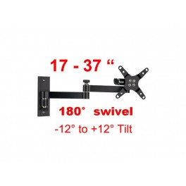 Antra Wall Mount S05B for 17inch-37inchTV/Tilt: -12° to +12° Swivel: 180°