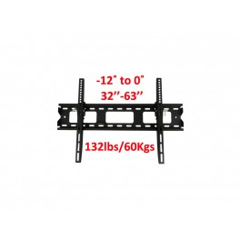 TygerClaw 32inch – 63inch, up to 132lbs/60kgs with tilt degree from -12˚ to 0˚ Wall Mount