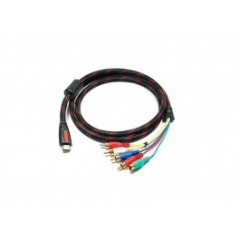 06Ft Speedex Hdmi to 5 Rca Cable