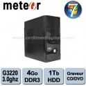 Ordinateur Météor Intel G3220 - 3.0Ghz - 4Go DDR3 - 1 TO - Graveur DVD/CD - HDMI, USB 3.0 - Win 7 Fam