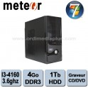 Ordinateur Météor Intel Core I3-4160 - 3.6Ghz - 4Go DDR3 - 1 TO - Graveur DVD/CD - HDMI, USB 3.0 - Win 7 Fam