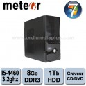 Ordinateur Météor Intel Core I5-4460 - 3.2Ghz - 8Go DDR3 - 1 TO - Graveur DVD/CD - HDMI, USB 3.0 - Win 7 Fam