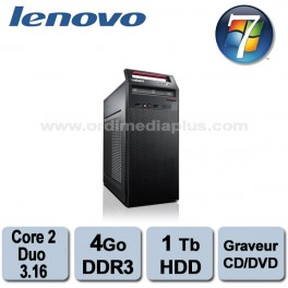 Ordinateur Lenovo Thinkcentre A70 - Core 2 Duo - 3.16Ghz - 4Go DDR3 - 1 TO - Graveur DVD/CD - Win 7 Pro
