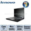 "Portable Lenovo Thinkpad T410 Intel Core i7 2.66Ghz - 4Go DDR3 - 320GO - Graveur DVD/CD - 14.1"" - Webcam - Win 7 Pro"