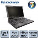 "Portable Lenovo Thinkpad T500 - Intel Core 2 Duo P8400 2.26Ghz - 2.0Ghz - 4Go DDR3 - 160GO - Graveur DVD/CD - 15.4"" - Win 7 Pro"