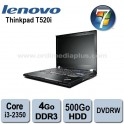 "Portable Lenovo Thinkpad T520i Intel Core I3-2350m - 2.3Ghz - 4Go DDR3 - 500GO - DVDRW - 15.6"" - Webcam - Win 7 Pro"
