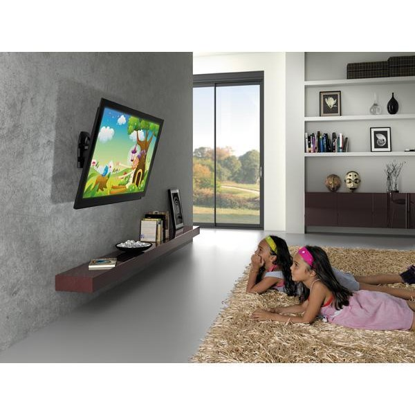 Support mural tv 32 65 39 39 pivotant 180 degr s sppedex ma5073 for Tablette murale pour tv
